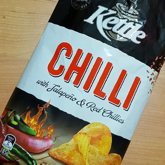 Chilli Kettle Chips came in at number eight on the list. Picture: @leftiness1992