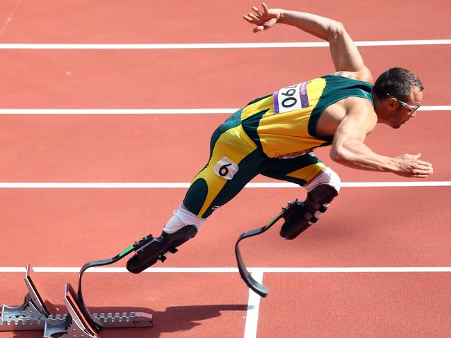 Oscar Pistorius in the Men's 400m Round 1 Heats at the London 2012 Olympic Games. Picture: Paul Gilham/Getty Images
