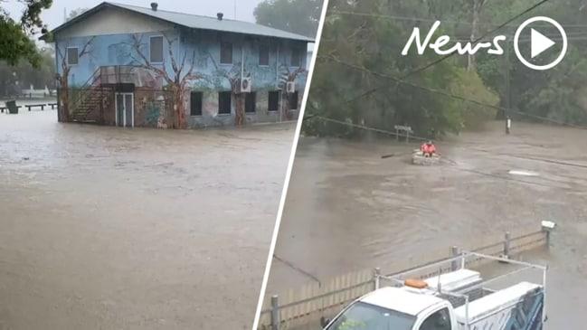 QLD floods: Highways closed as torrential rain wreaks havoc