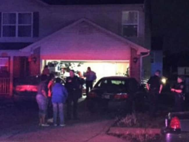 The home in Indiana where a toddler found a gun in his mother's purse and fatally shot himself. Picture: Twitter.