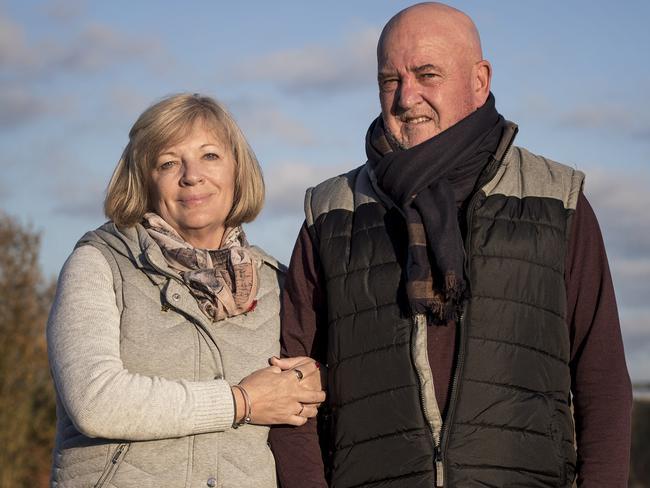 Tony and Debbie Sullivan, of Glenelg in Adelaide. Picture: Ella Pellegrini
