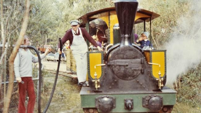 Steam train operating at Whistle Stop Amusement Park. Picture: supplied