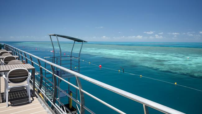 The Reefsuites are part of the new Reefworld pontoon, developed at Hardy Reef. Picture: Journey Beyond