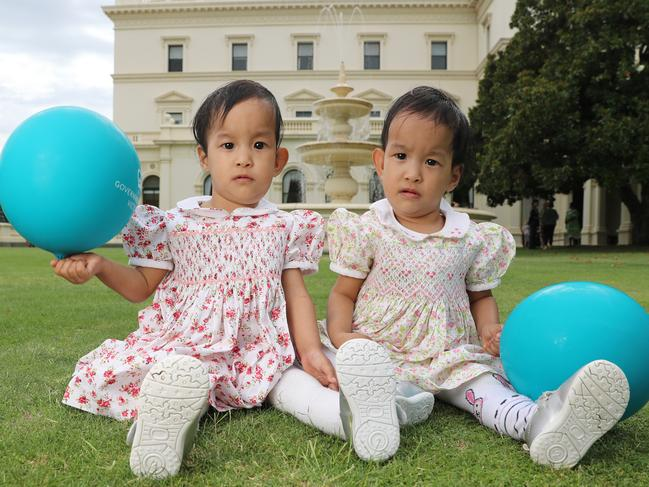 Formerly conjoined twins Dawa, left, and Nima, right, are set to leave Australia. Picture: Alex Coppel.