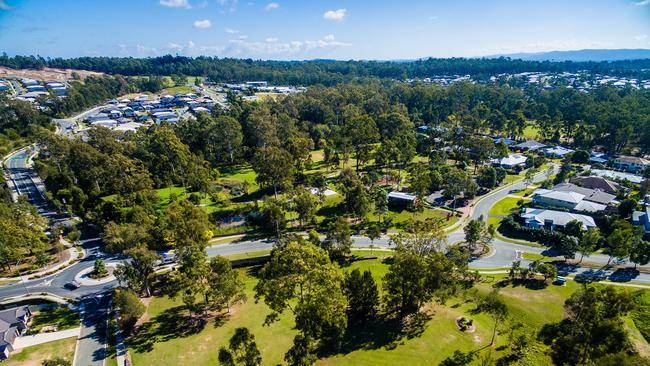 An aerial shot of Stockland's Augustine Heights community.