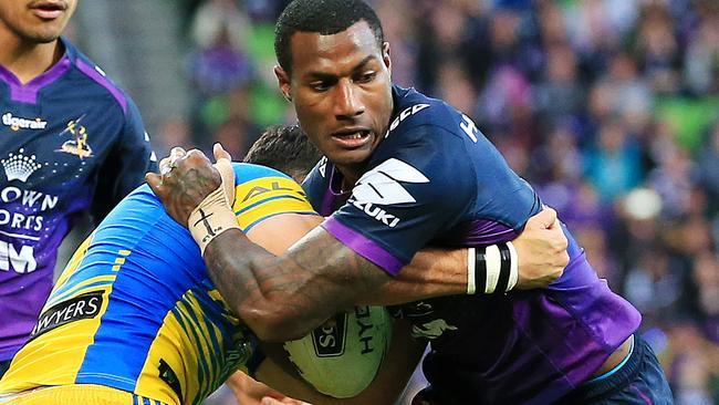 Winger Suliasi Vunivalu in action for the Storm. Picture: Mark Stewart