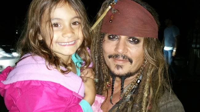 Johnny Depp happily interacted with fans as he shot Pirates of the Caribbean on the Gold Coast.