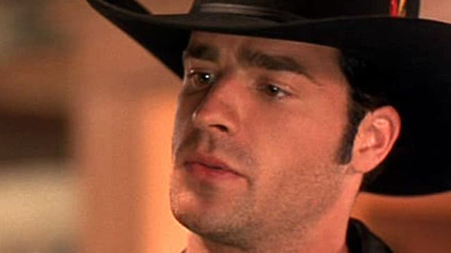 Theroux played Clarence the Cowboy.