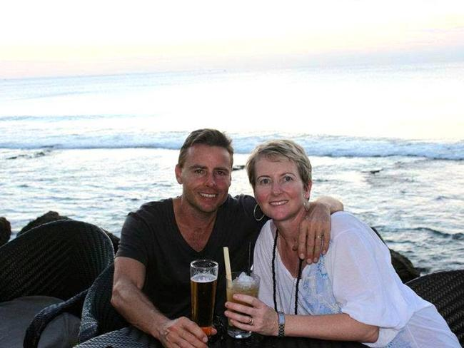 Distraught ... Missing Noosa man Peter Maynard and wife Kylie. Pic: Facebook