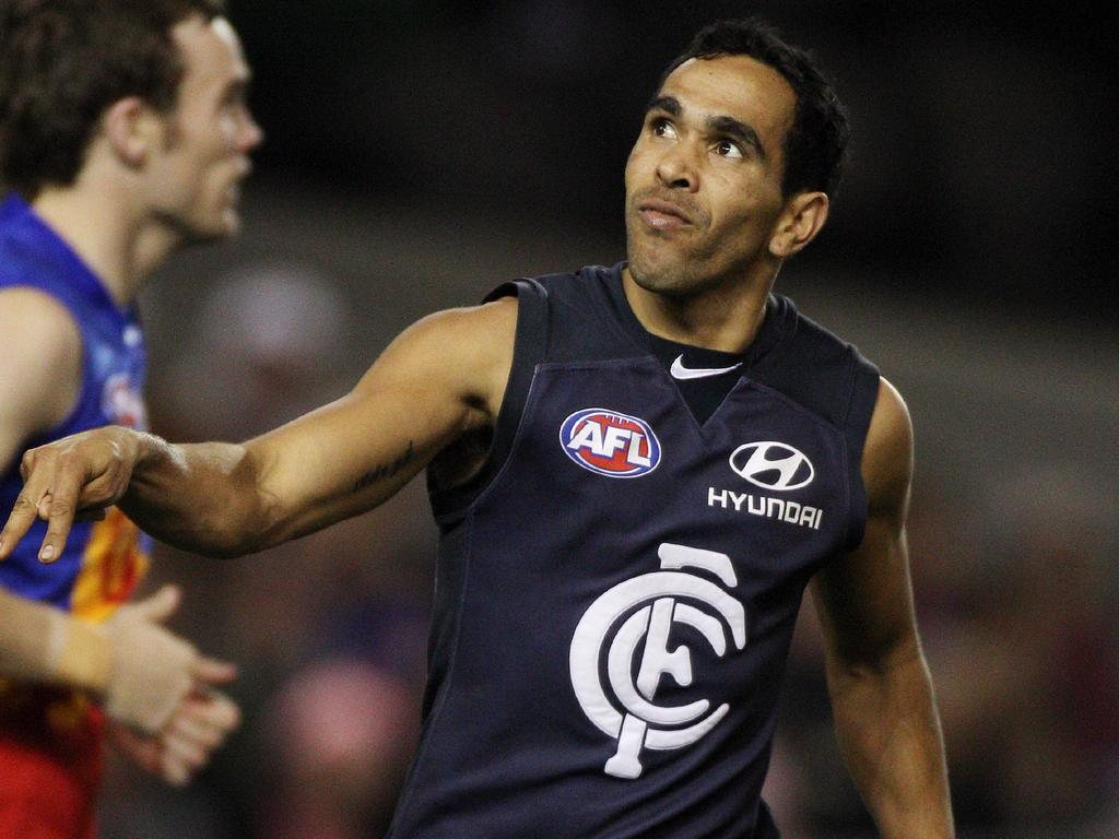 Eddie Betts played 184 games for Carlton.