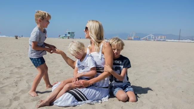 Lara and her family love the beach. Photo: Denise Crew