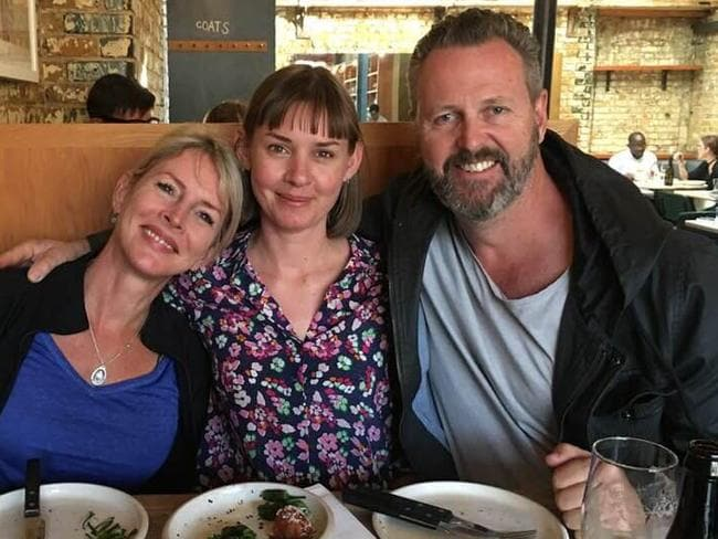 Mr and Mrs Wallace with London Bridge terror attack survivor Candice Hedge (centre)
