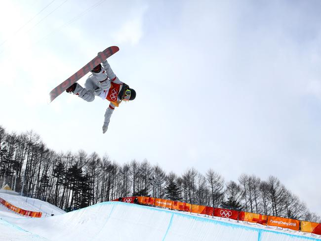 Chloe Kim of the United States competes at the PyeongChang 2018 Winter Olympics.