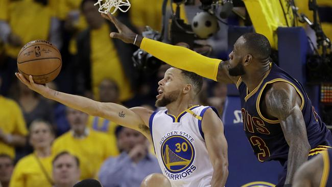 cdceb1246ce9 Golden State Warriors win game 1 after inexplicable JR Smith brain explosion   LeBron scores 51