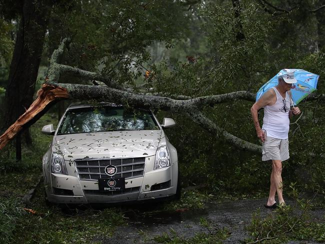 Hurricane Florence hit Wilmington as a category 1 storm causing widespread damage and flooding across North Carolina. Picture: Mark Wilson/Getty Images/AFP