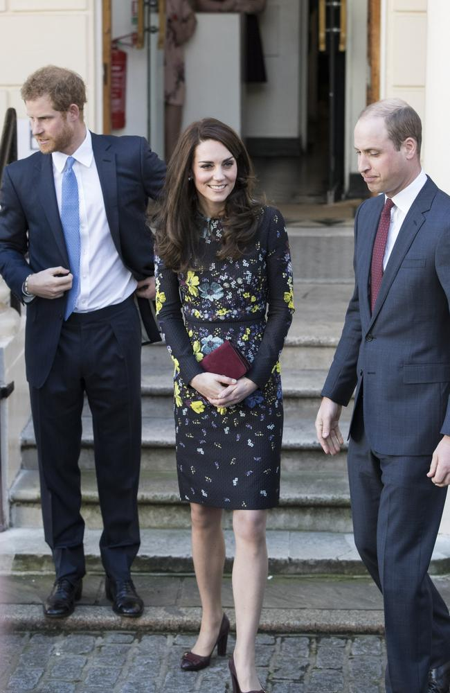 "Royal watchers have suggested William was ""more in control"" when it was just the three of them. Picture: Getty Images"