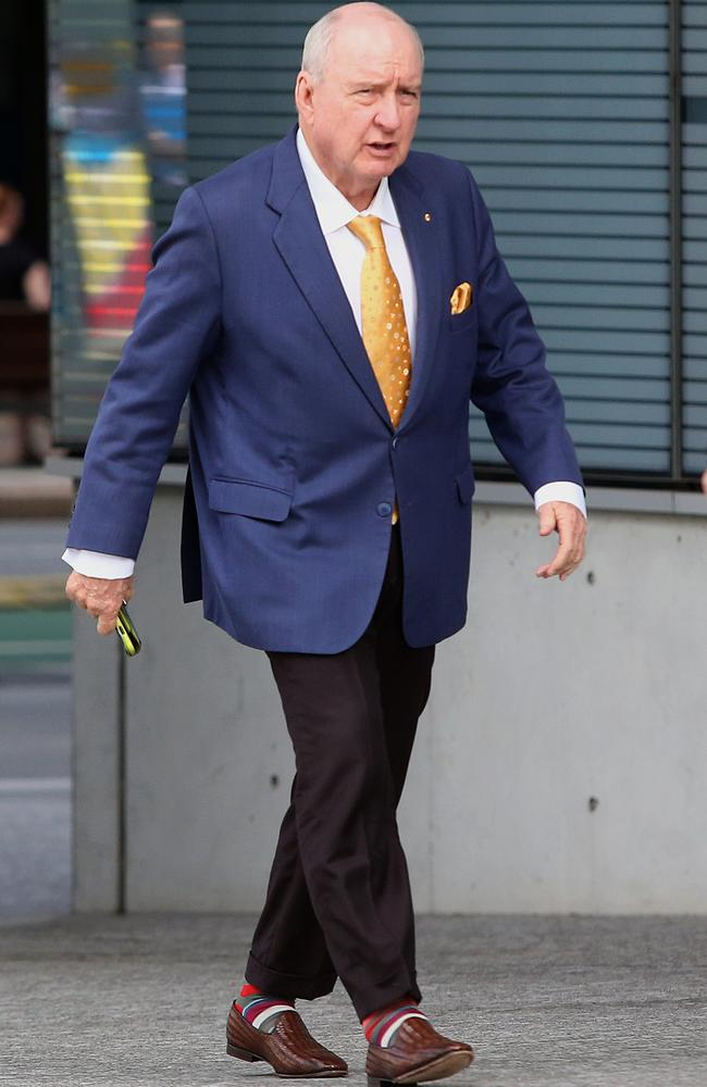 Alan Jones arriving at the Supreme Court earlier this week. Picture: AAP Image/Jono Searle