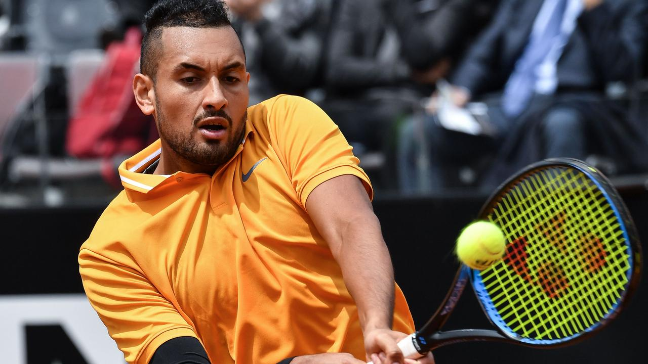 Nick Kyrgios used his whole bag of tricks to down Daniil Medvedev in Rome.