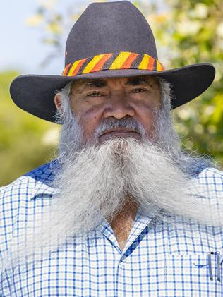 Labor Senator Pat Dodson (pictured in Broome) slammed the Prime Minister for not attending the ceremony in Uluru on Sunday. Picture Ben Houston/The Australian