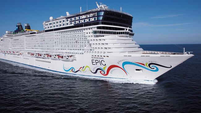 The woman went missing from the Norwegian Epic, pictured.