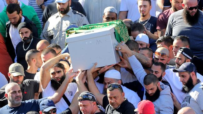 """The funeral of slain Walid """"Wally"""" Ahmad at Lakemba Mosque."""