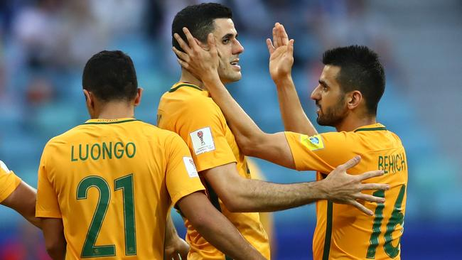Tommy Rogic of Australia celebrates.