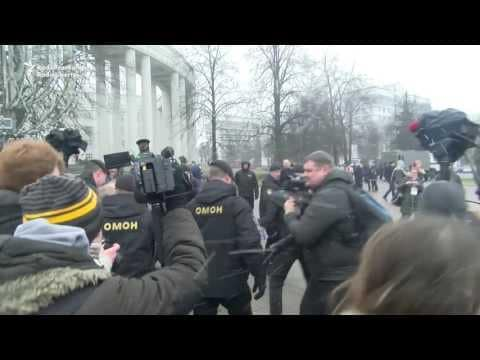 BELARUS: Police Detain Hundreds at Anti Government Protest in Minsk March 25