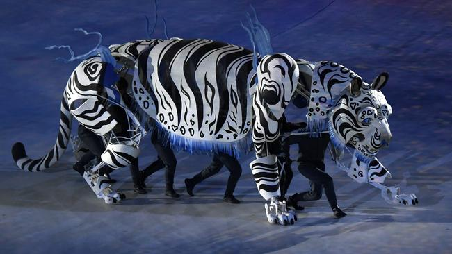 A 'tiger' at the opening ceremony.