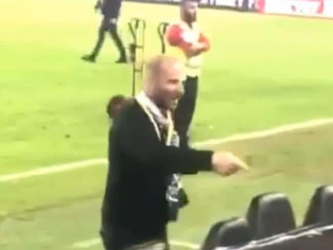 Celebrity chef George Calombaris admitted assaulting a teenage football fan.