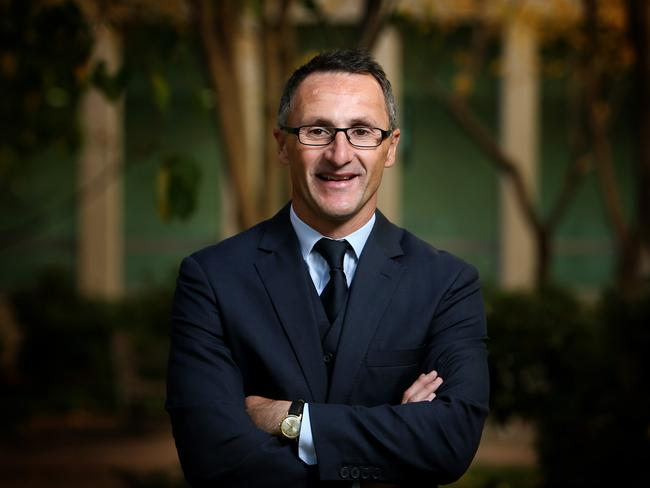 Greens New Leader Richard Di Natale at Parliament House in Canberra.