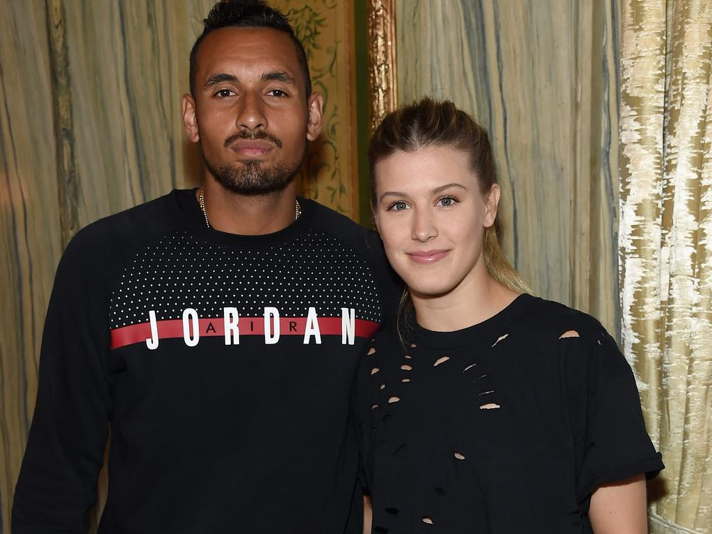 Nick Kyrgios and Eugenie Bouchard in New York in 2017. (Photo by Jamie McCarthy/Getty)