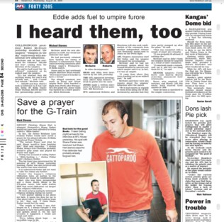 Clippings from Herald Sun on Whispers