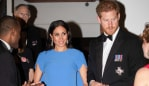 SUVA, FIJI - OCTOBER 23: Prince Harry, Duke of Sussex and Meghan, Duchess of Sussex attend a state dinner hosted by the president of the South Pacific nation Jioji Konrote at the Grand Pacific Hotel on October 23, 2018 in Suva, Fiji. The Duke and Duchess of Sussex are on their official 16-day Autumn tour visiting cities in Australia, Fiji, Tonga and New Zealand. (Photo by Pool/Samir Hussein/WireImage)