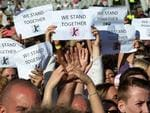 Music fans gather at the One Love Manchester benefit concert for the families of the victims of the May 22, Manchester terror attack, at Emirates Old Trafford in Greater Manchester on June 4, 2017. Picture: Dave Hogan for One Love Manchester