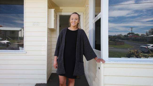First homeowner Mikayla Hall has bought at Chigwell in Hobart. Picture: Matt Thompson.