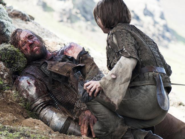 Rory McCann as The Hound convinced Arya not to kill Cersei. Picture: HBO