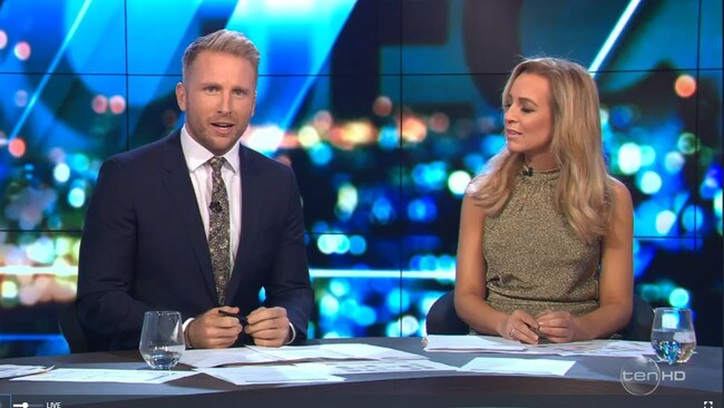 Hamish MacDonald has issued an extraordinary on air response to Dreyfuss. Picture: Channel 10