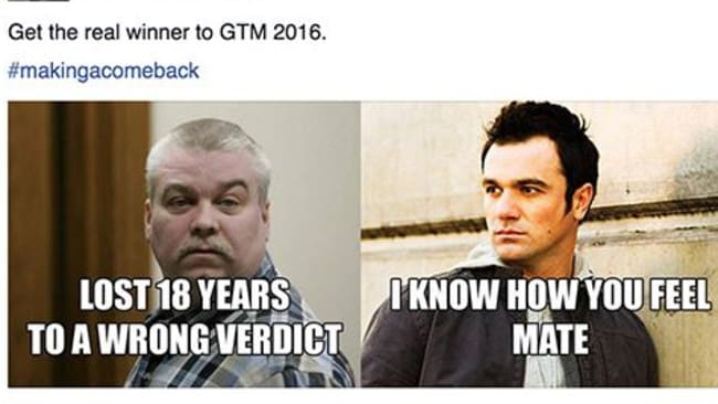 This meme compares Making a Murderer subject Steven Avery with Shannon Noll.