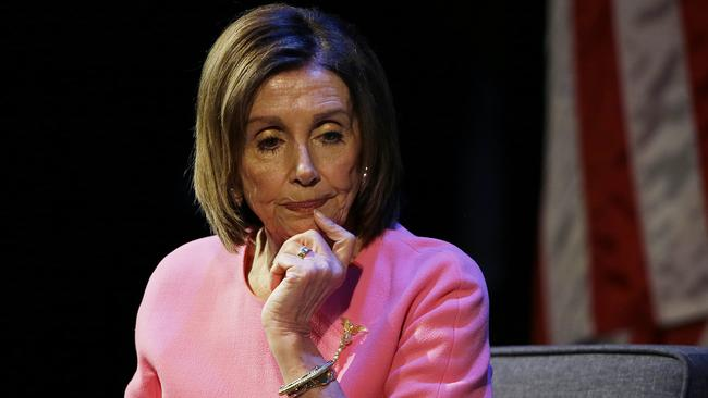 House Speaker Nancy Pelosi is hesitant to push impeachment, which Democratic groups believe is a mistake. Picture; AP