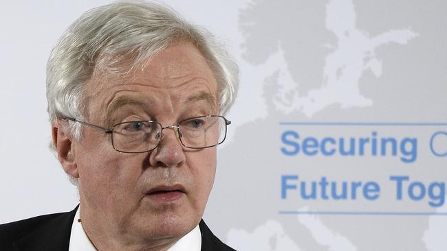 Shock resignation: Britain's Secretary of State for Exiting the European Union David Davis has quit. Picture: AP