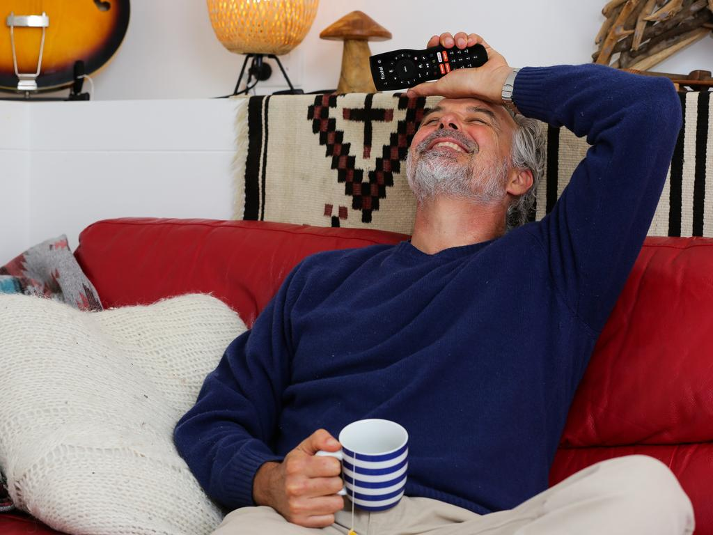 Cameron Daddo has been catching up missed shows and old favourites. Picture: Gaye Gerard