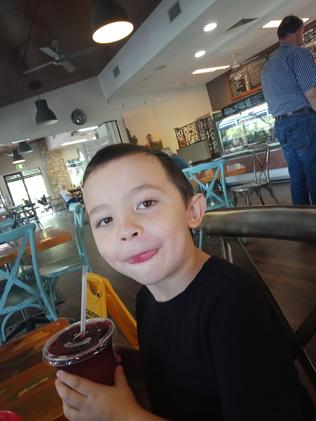 Police have released a further image of one of the children subject to this evening's Amber Alert. The new photo released shows the 5-year-old boy. Picture: QLD Police