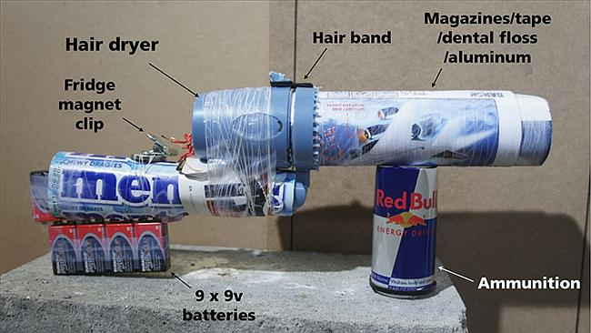 """The common components used in the shell of the DIY """"blunderbuss""""."""