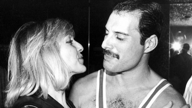 Freddie Mercury with his friend, Mary Austin.