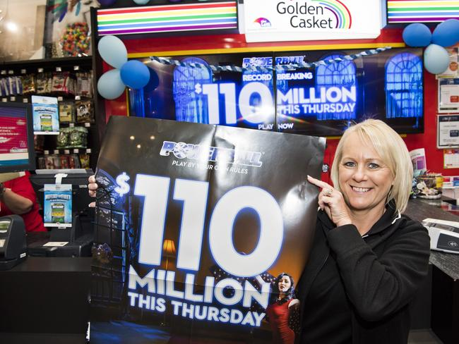 Nextra Grand Central store manager Jill Bourke couldn't wait for the Powerball draw last Thursday.