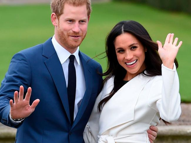 Australian TV network's are all airing specials on Harry and Meghan's love story in the lead up to the wedding. Picture: Eddie Mulholland/Pool via AP