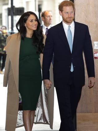 Harry and Meghan arriving at the WellChild Awards. Picture: AP Photo/Kirsty Wigglesworth