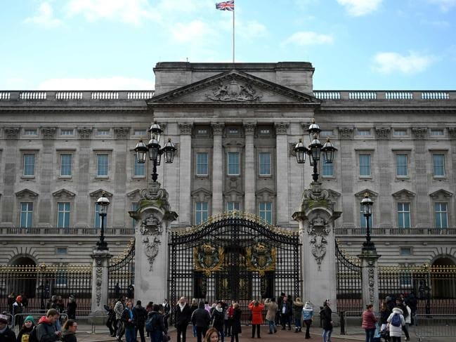 Tourists gather outside Buckingham Palace in London on January 10. Picture: Daniel Leal-Olivas
