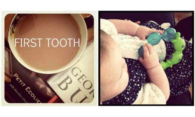 Melt-your-heart baby moments: First tooth