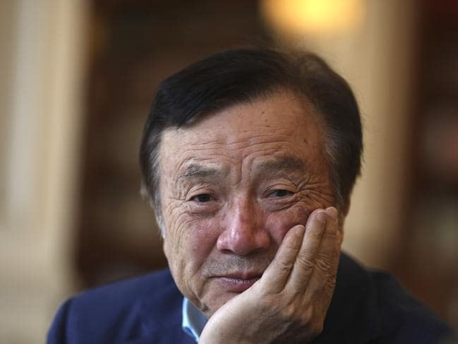 Huawei's founder and CEO Ren Zhengfei sums up the feeling of the Chinese tech giant. Picture: AP